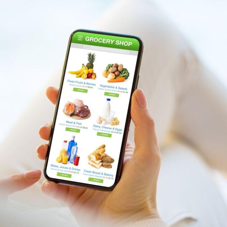 online meat store app menu mockup