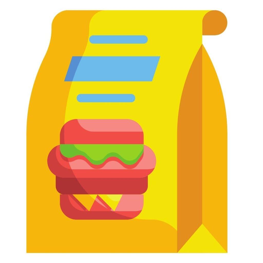 online restaurant app promotion on package