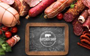 Online Meat store logo