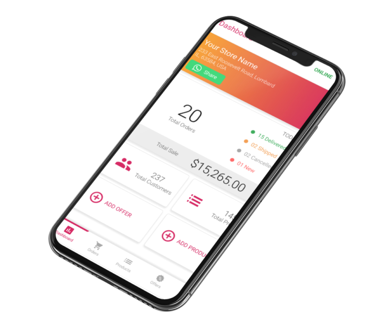 Phygital24 business manager app iphone mockup
