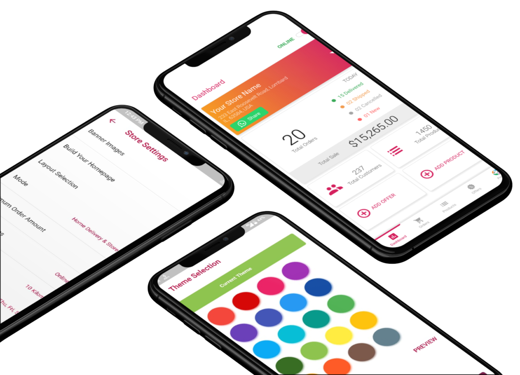 Phygital24 settings in business manager app iphone mockup
